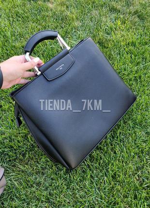 Офисная сумка на три отделения baliviya 20047 черная