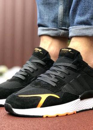 Мужские кроссовки черные Adidas Jogger Boost 9374