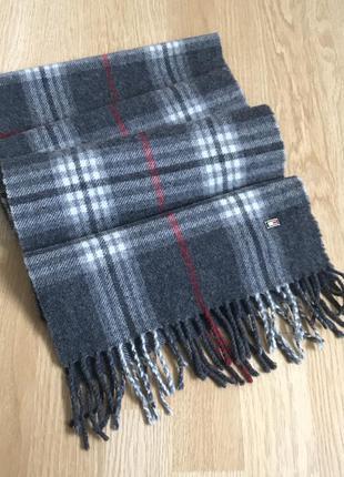 Tommy hilfiger wool scarf шарф в клетку шерсть