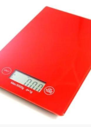 Весы кухонные электронные Electronic Kitchen Scale (Красный)