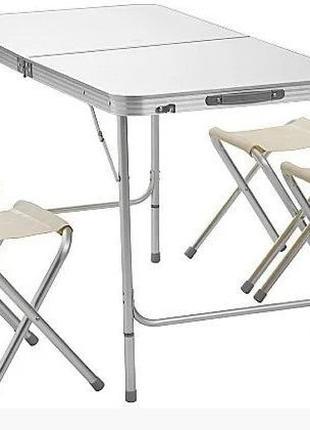 Стол чемодан складной для пикника+ 4 стула