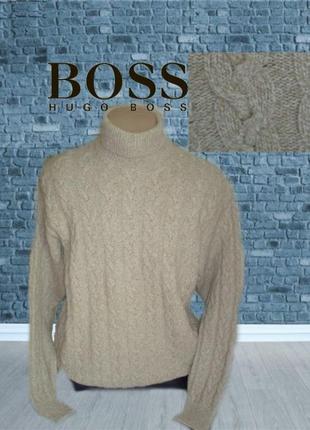💨❄hugo boss шерсть + шелк оригинал супер теплый мужской свитер...