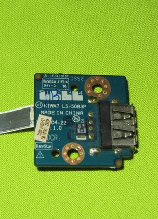 Плата USB Lenovo G550 G555 NBX0000HI00 KIWA7 LS-5083P