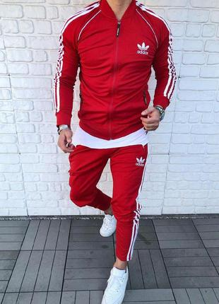 Мужской спортивный костюм адидас adidas red красный