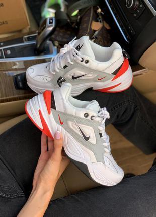 Кросівки nike m2k white/black/red кроссовки