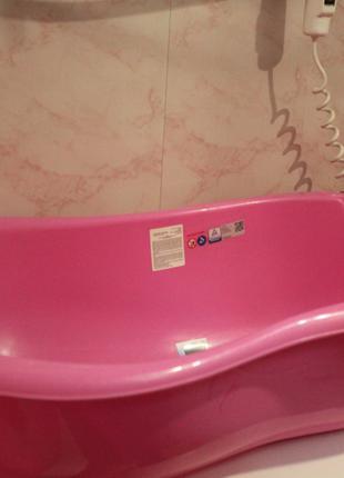 Детская ванночка с встроенным термометром + горка+ круг