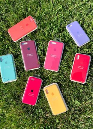Чехол silicone case на айфон Iphone 6/7/7+/8/8+/X/XS/XR/XS Max/11