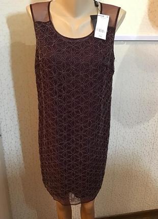 Шикарное дорогое нарядное платье органза расшитая бисером