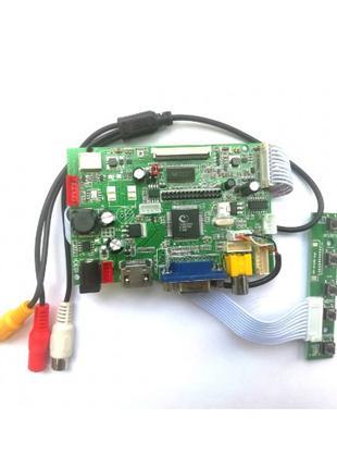 Универсальный Скалер монитора  GOLD  V29 VGA AV USB 2.0 TTL 50 pi