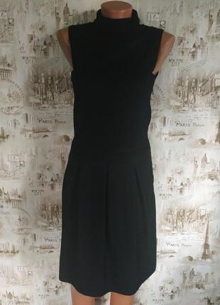 Миленькое платьице черного цвета. s/m р-р