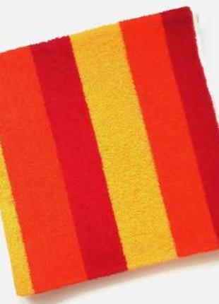 Махровое полотенце 90*50 красное-оранжевое-желтое