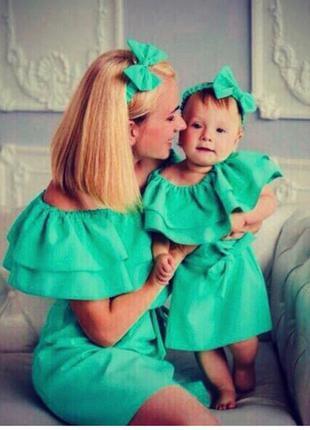 Платья для мамы и дочки Family look