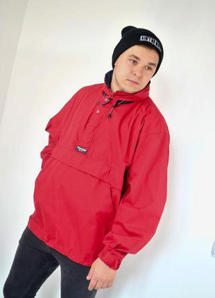 Ralph lauren chaps красный анорак, демисезонная винтажная курт...