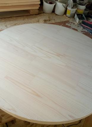 Стол деревянный, круглый, столешница