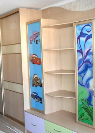 Детский большой шкаф-купе на заказ. Корпусная мебель