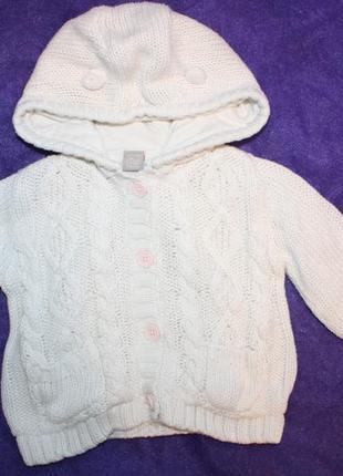 Чудная вязано-трикотажная кофта-худи ф.tuна ребенка  от 3 до 6...