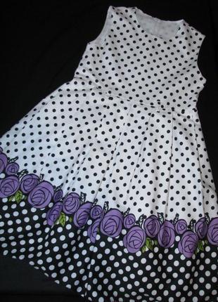 Нарядное красивое хлопковое платье на девочку от 10 лет