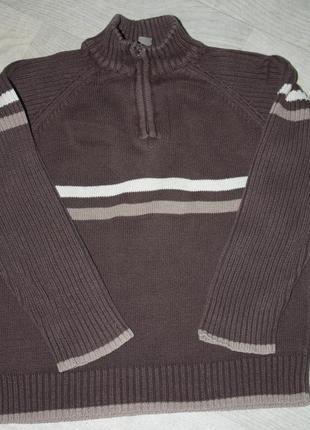 Котоновый  плотный ф.l .o.o.g свитер с горлом на ребенка 8/9ле...