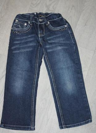 Модные современные джинсы на девочку 2/3года р-98/104 в  состо...