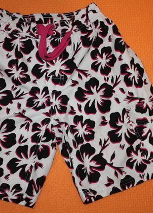 Летние яркие фирменные шорты для купания р-152 для мальчика 12...