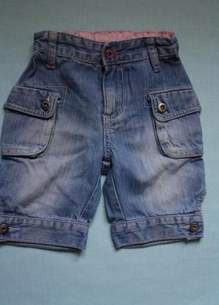 Джинсовые шорты ф.bfc для девочки р- 86/92в отличном состоянии