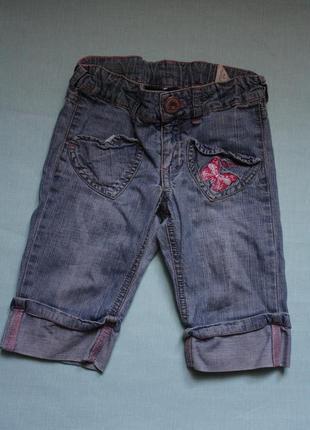 Джинсовые шорты-бриджы  ф.h&mдля девочки р- 98/104  в хорошем ...