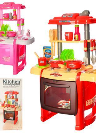Детская Кухня WD-P15-R15 (2 цвета), из крана течет вода, свет, зв