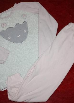 Флисовая пижама для  девочки на р-128/134/(10-11лет)в хорошем ...