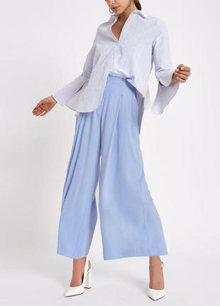 Актуальные летние брюки кюлоты baby blue №372