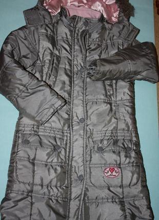 Курточка-пальто еврозима ф.palomino на р-116/122 в хорошем сос...