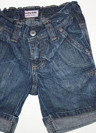 Шикарные джинсовые шорты для девочки 3/4 года,104/110 в отличн...