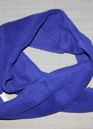 Флисовый мягенький шарф,цвета индиго  в отличном состоянии