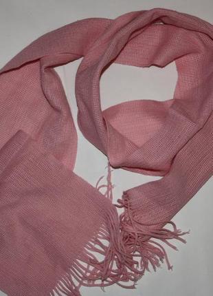 Котоновый розовый шарфик в хорошем состоянии