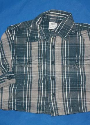 Рубашка в клеточку ф.hema для малыша р-68 в отличном состоянии