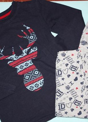 Котоновая пижама для мальчика или девочки р-128,7/8лет в отлич...