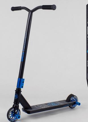 Самокат трюковый 55766 Best Scooter ПЕГИ, алюминиевый диск