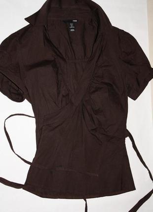 Шикарная фирменная блузка ф.h&m р-34/36 в отличном состоянии