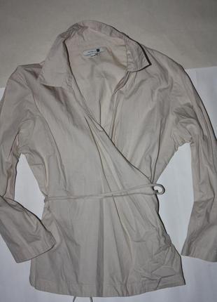 Рубашка-блузка котоновая ,рукав 3/4 р-34/36 в отличном состоянии