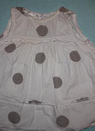 Очаровательное платье в горох для девочки от 3 до 6мес в отлич...