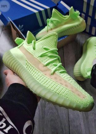 Adidas yeezy boost 350 v2 glow🔺мужские кроссовки адидас зелены...