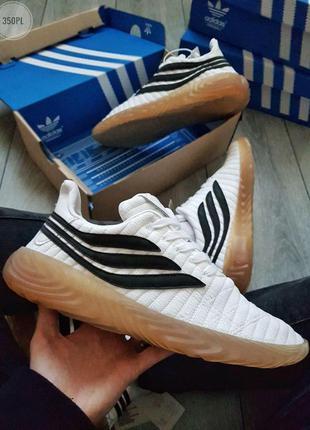 Adidas sobаkov white/black🔺мужские кроссовки адидас серые 🔺41-45