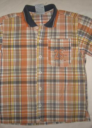 Рубашка ф.topolino р-116 для мальчика 6/7 лет в хорошем состояни