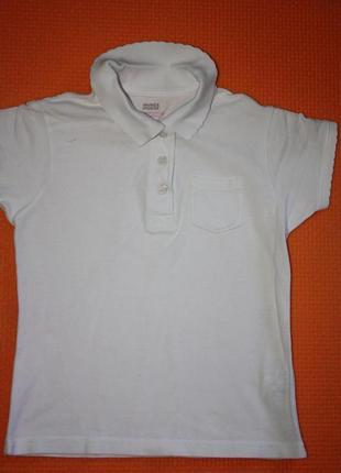 Школьная футболка-поло ф.marks&spencer для девочки 8/9лет,отли...