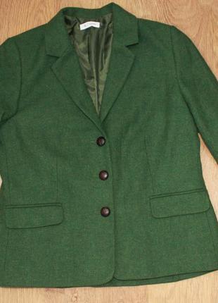 Пиджак жакет зеленый шерсть essentiel 42р.