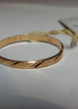 Новое золотое кольцо /каблучка/золото 585/размер 22,5
