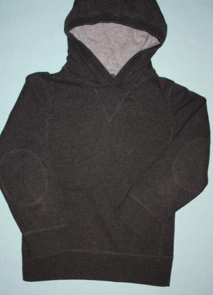 Стильный ф.н&m р-110/116 свитер-худи в отличном состоянии