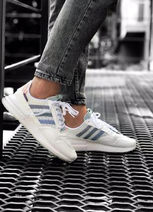 Крутые женские кроссовки adidas zx500 rm white