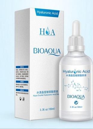Увлажняющая сыворотка для лица гиалуроновая кислота 100мл bioaqua