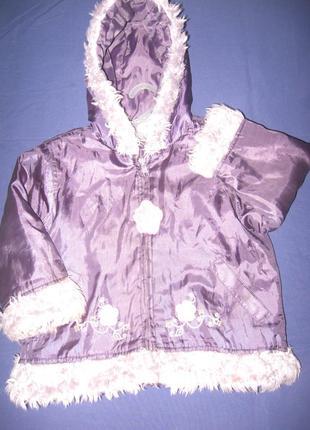 Осенне-зимняя курточка теплая  на синтепоне р-104/110 в хороше...