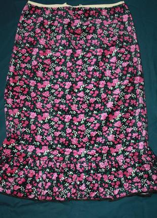 Велюровая красивая юбка р-44-46